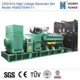 2500kVA de Reeks van de Generator van de hoogspanning 10-11kv met Googol Motor 50Hz