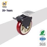Örtlich festgelegte Hochleistungslaufkatze-Rad PU-Fußrolle