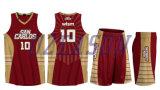 hecho personalizado el Athletic baloncesto azul uniforme el diseño de camiseta de Baloncesto (BK038)