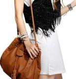 Schulter-Beuteltote-Beutel der zwei Farben PU Dame-Handbag