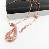 Реальные позолоченный-слезники подвесной бриллиантовое ожерелье на заявление