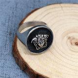 Comercio al por mayor sentido de acero inoxidable 316L Skull Ring