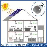 12V solaire portable Lampe à LED avec orifice de charge du ventilateur