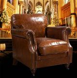도매가 호텔 클럽 브라운 진짜 가죽 의자 (623)