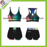 Износ йоги краткостей бюстгальтера спорта износа гимнастики печатание сублимации изготовленный на заказ