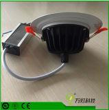 고성능 IP65 LED Dimmable 천장 점화 15W Downlight