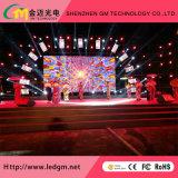 P4 visualización de LED flexible de alquiler de la cabina de interior del aluminio LED
