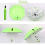 Parapluie bon marché promotionnel de fois des Multi-Couleurs trois de forme de bouteille d'Adversting