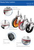 8 pouces de roue en caoutchouc pivotantes de la tige pour l'échafaudage