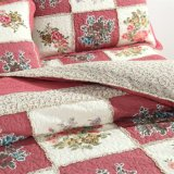 Rote Bettwäsche stellte Baumwollplaid-Bettdecke 100% ein
