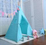 Il cotone dell'interno della tela di canapa scherza il Teepee indiano della tenda con 5 Pali di legno