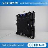 Dünne Schrank P5mm HD örtlich festgelegte LED-Innenbildschirmanzeige mit der 160*160mm Baugruppe