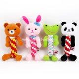 Het beeldverhaal draagt Stuk speelgoed van de Hond van de Levering van het Huisdier van de Panda van de Kikker van het Konijn het Zachte