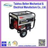 Gruppo elettrogeno elettrico popolare della casa della benzina del collegare di rame 5kw con la maniglia e le rotelle