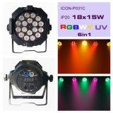 RGBWA+UV 6in1 18X12W LED Stadium NENNWERT Licht mit neuem Entwurf