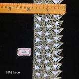 tessuto fatto a mano del merletto del Crochet del diamante del triangolo di 8.5cm per gli accessori Hme875 dell'indumento