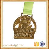 Recuerdo en 3D de metal personalizados Runing Deporte medalla con Turquía Shapeals