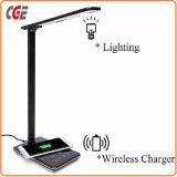 Новейшие продажи с возможностью горячей замены для использования внутри помещений настольная лампа 5 Вт Светодиодные лампы для чтения с помощью беспроводного зарядного устройства светодиодный индикатор настольные лампы