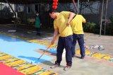 Los colores de pintura de suelo de recubrimiento de epoxi para gimnasio