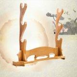 3 couches Wakizashi Épée de bambou Support pour écran
