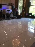 La preuve de l'eau blanc élégant Twinkle nouveau plancher de danse de mariage Interactive LED