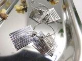 Metal Alloy Jewelry Silver Orecchino di goccia del cerchio di Huggie del cerchio di colore