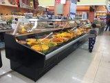 Visor de Vidro da curva de supermercados refrigerador delicatessen do gabinete