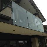 Acero balcón rieles de cristal / Vidrio barandilla