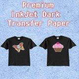 Lavable Dark Fer-élastique sur le transfert de chaleur du papier jet d'encre pour bricolage