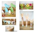 La decoración de flores de primavera de aves Conejo de Pascua