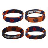 Wristband variopinto personalizzato del silicone dei ricordi di marchio del lampo
