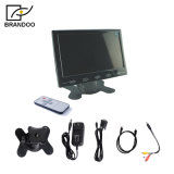 7 entrada de video del VGA BNC HDMI del RCA de Suport del monitor del coche de la pulgada TFT LCD