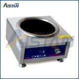 Fornello commerciale di induzione dell'acciaio inossidabile PT12K-001, singola fornace a testa piatta capa