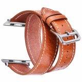 De gekke Riem van het Leer van het Paard Retro Echte voor Bruine de Band van Iwatch van de Appel