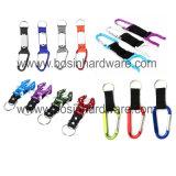 Алюминиевый карабин цепочки ключей с помощью строп предохранительного пояса