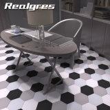 Personalizar el cuarto de baño de porcelana esmaltada azulejo hexagonal