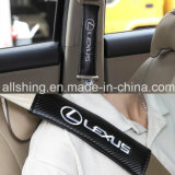 Il carbonio della cintura di sicurezza di marchio dell'automobile della Land rover copre i rilievi di spalla