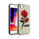 iPhone 6 аргументы за конструкции цветка 3D Rose мягкое вышитое добавочное