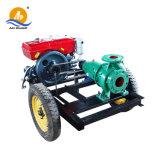 Remorque mobile moteur Diesel de la pompe à eau centrifuge entraînée par courroie