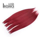 De dubbel Getrokken Uitbreiding van het Menselijke Haar van de Band van de Rode Kleur 18inch