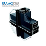 Het Systeem van de Gordijngevel van het Glas van het Aluminium van Aag Met ISO9001