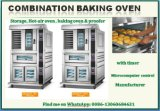 Intervallo commerciale elettrico di cottura con il forno di convezione, il forno di cottura e la fermentazione