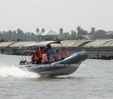 Barca militare della nervatura della pattuglia della barca della nervatura della barca della nervatura di sport di Liya 3.3-8.3m