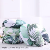 La impresión digital planta tropical tipo U Cuidado de la almohada de cuello de partículas