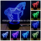 ライト動物シリーズの3Dの錯覚LED夜