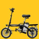 Les pédales a aidé les vélos électriques 14inch Vélos Électriques vélo électrique pliant avec retirer la batterie