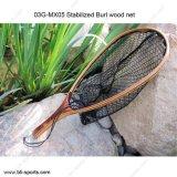 Rete di atterraggio netta di legno stabilizzata di pesca della mosca del Burl