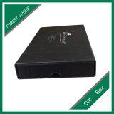 1200GSM 은 포일 Stampping를 가진 이중 널 검정 선물 상자