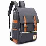 Estilo japonês Cinza Personalizado Laptop de lazer de lona mochila escolar
