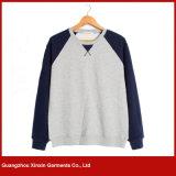 Kundenspezifische Großhandelsmänner Plain Normallack-Halsausschnitt-Sweatshirts (T178)